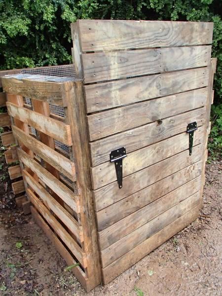 fabriquer composteur bois